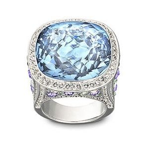 Swarovski Aquamarine Cocktail Ring